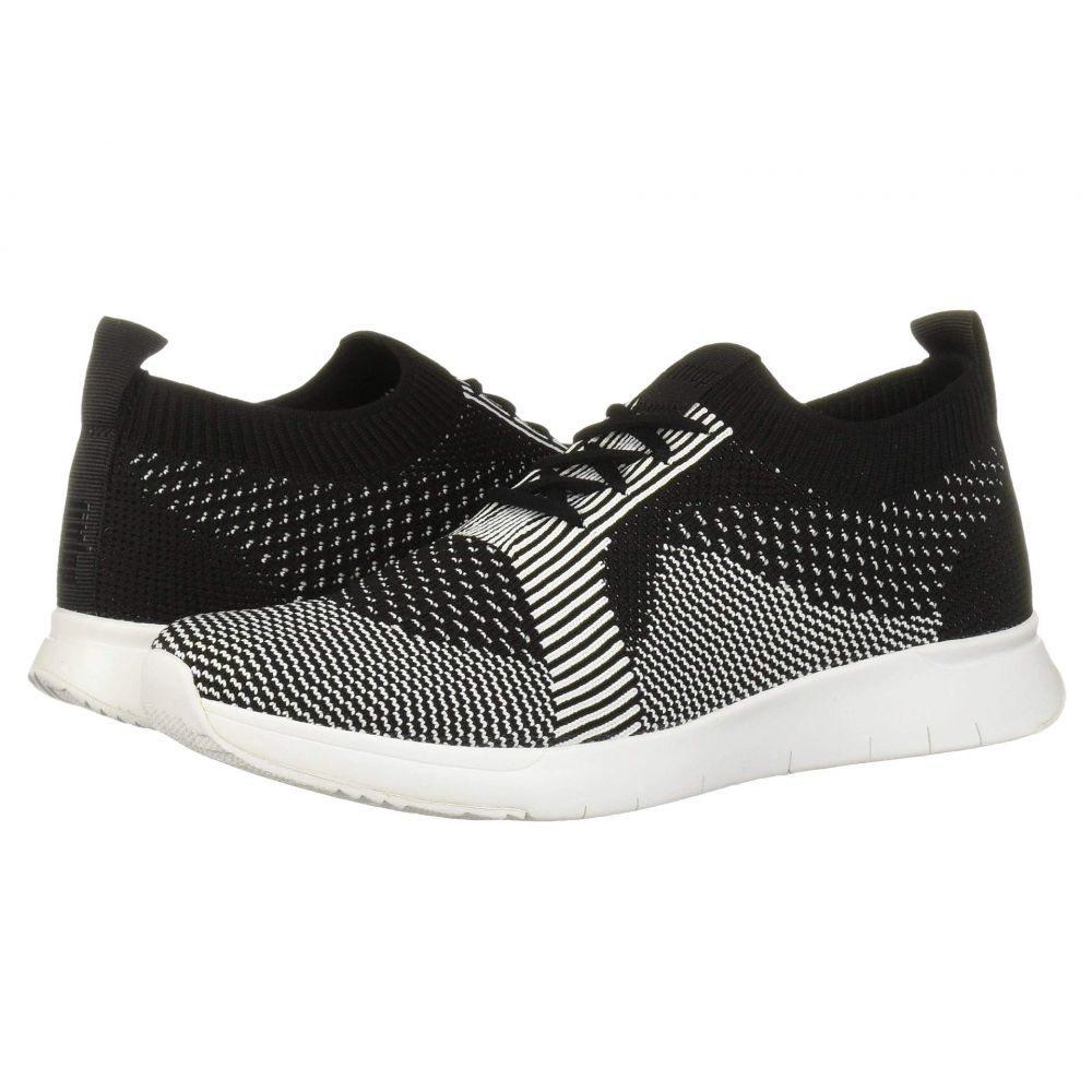 フィットフロップ FitFlop レディース スリッポン・フラット スニーカー シューズ・靴【Marble Knit Slip-On Sneaker】Black/White