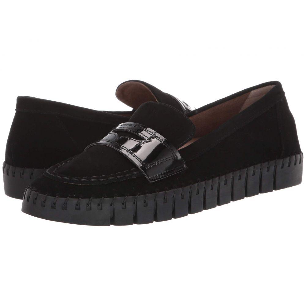 ジェイレニー J. Renee レディース ローファー・オックスフォード シューズ・靴【Brooklyne】Black Suede/Patent