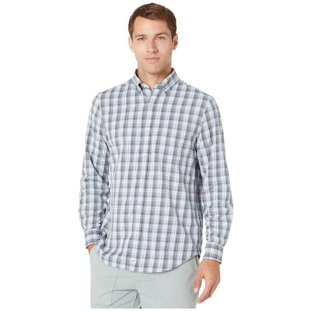 ヴィニヤードヴァインズ Vineyard Vines メンズ シャツ トップス【Classic Fit Darvo Cotton Performance Murray Shirt】Evening Sky