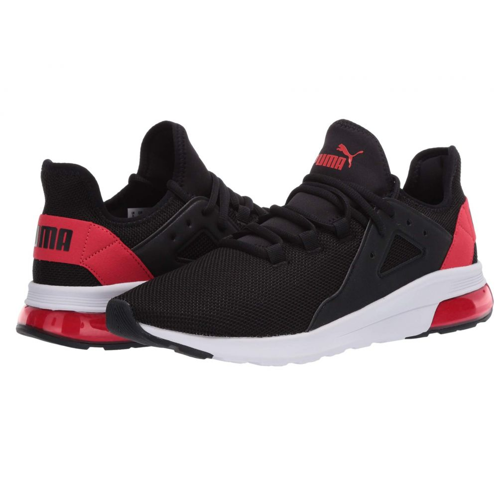 プーマ PUMA メンズ スニーカー シューズ・靴【Electron Street】Puma Black/High Risk Red