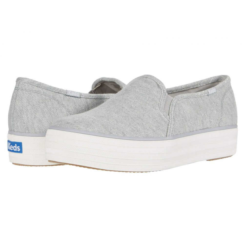 ケッズ Keds レディース スニーカー シューズ・靴【Triple Decker Sparkle Jersey】Light Gray Sparkle Jersey