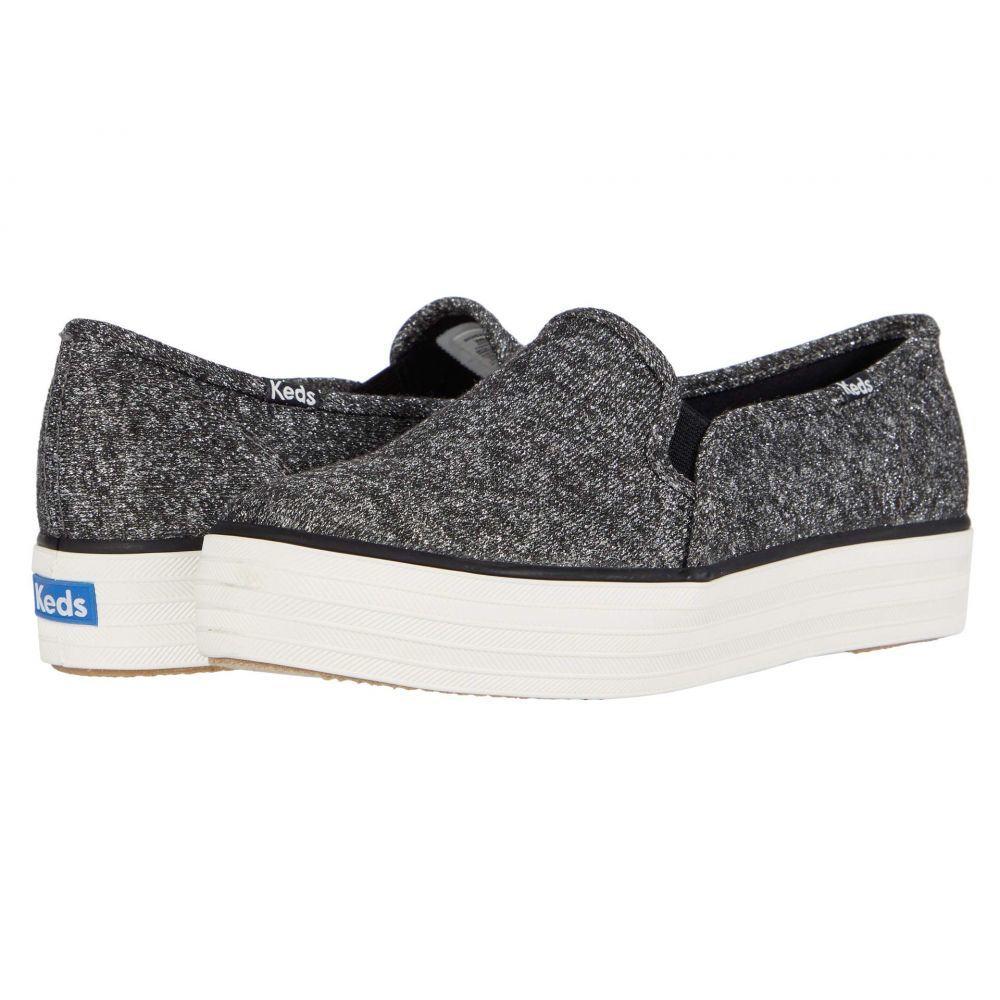 ケッズ Keds レディース スニーカー シューズ・靴【Triple Decker Sparkle Jersey】Black Sparkle Jersey