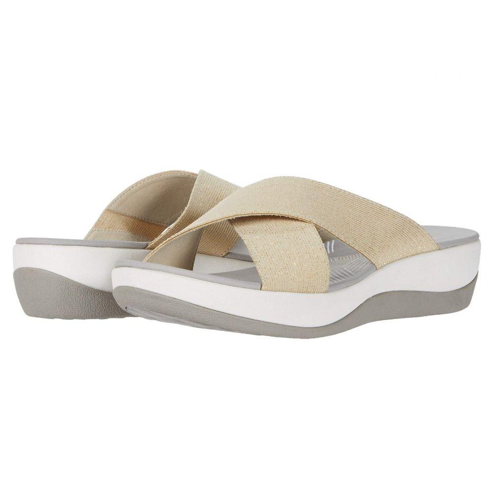 クラークス Clarks レディース サンダル・ミュール シューズ・靴【Arla Elin】Gold Metallic Textile