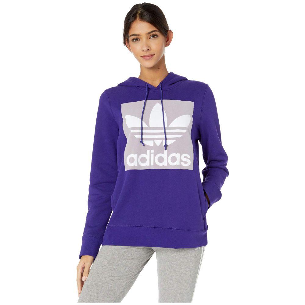 アディダス adidas Originals レディース パーカー トップス【Trefoil Hoodie】Collegiate Purple