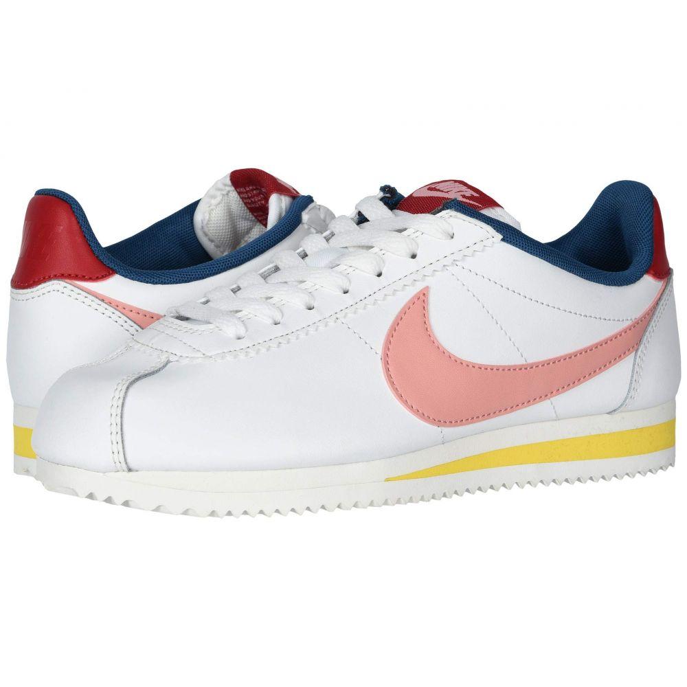 ナイキ Nike レディース スニーカー シューズ・靴【Classic Cortez Leather】Summit White/Coral Stardust/Gym Red