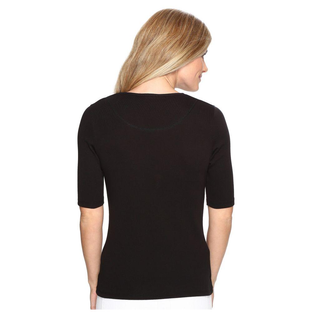リラピー Lilla P レディース 長袖Tシャツ Vネック トップス Elbow Sleeve V Neck BlackdBWxCoeEQr