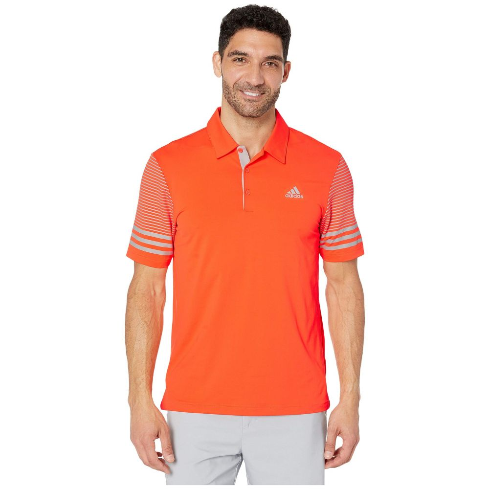 アディダス adidas Golf メンズ ポロシャツ トップス【Ultimate Sleeve Gradient Polo】Hi-Res Coral