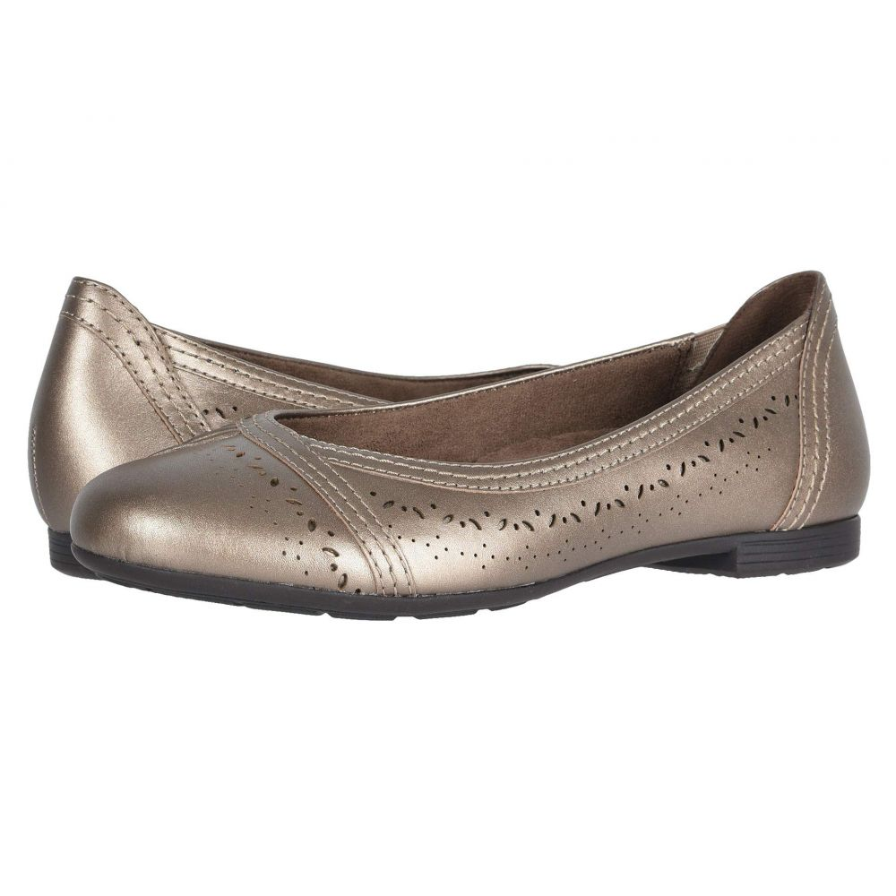 カルソーアースシューズ Earth レディース スリッポン・フラット シューズ・靴【Vista Nova】Platinum Pearlized Eco Calf/Calf PU