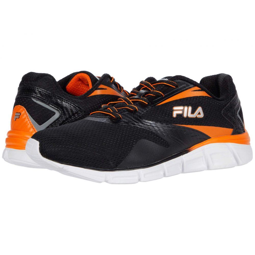 フィラ Fila メンズ ランニング・ウォーキング シューズ・靴【Memory Venturize】Black/Vibrant Orange/Metallic Silver