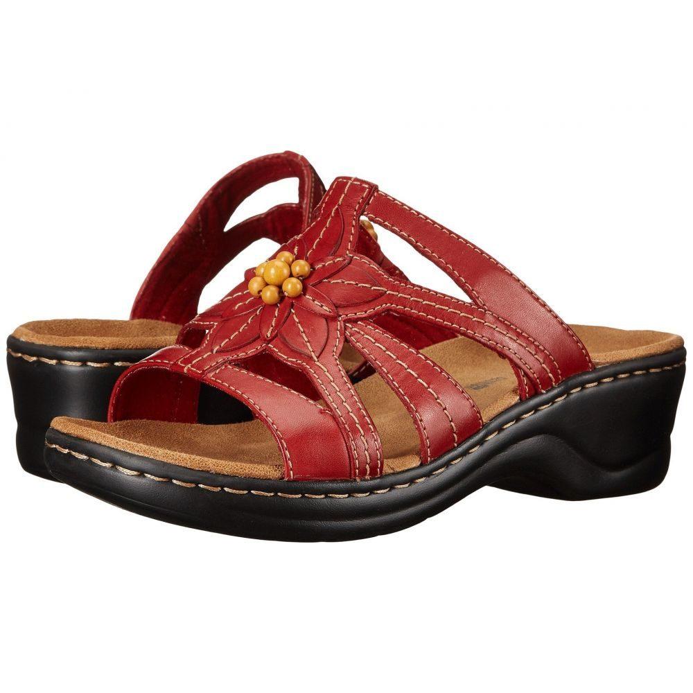 クラークス Clarks レディース サンダル・ミュール シューズ・靴【Lexi Myrtle】Red Leather