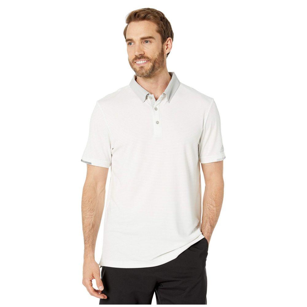 アディダス adidas Golf メンズ ポロシャツ トップス【CLIMACHILL Two-Color Stripe Polo】White/Grey One