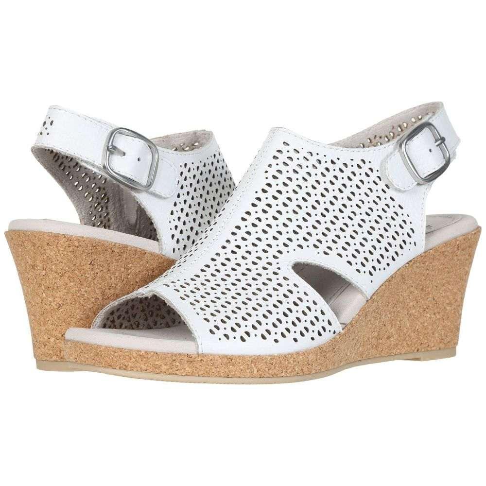 カルソーアースシューズ Earth レディース サンダル・ミュール シューズ・靴【Radiant】White Leather