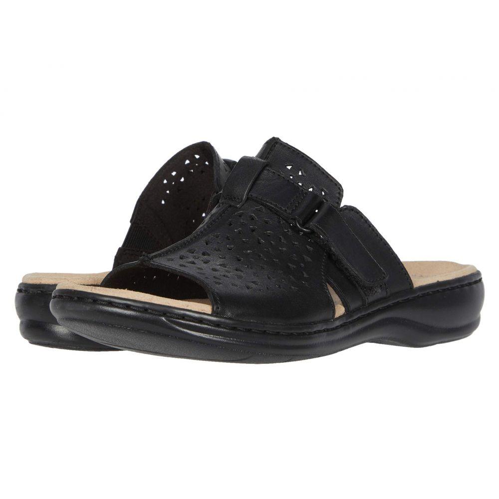 クラークス Clarks レディース サンダル・ミュール シューズ・靴【Leisa Fox】Black Leather