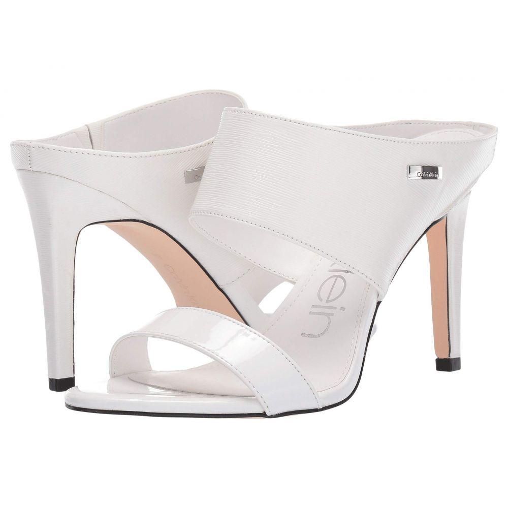 カルバンクライン Calvin Klein レディース サンダル・ミュール シューズ・靴【Shayna】White Patent Smooth