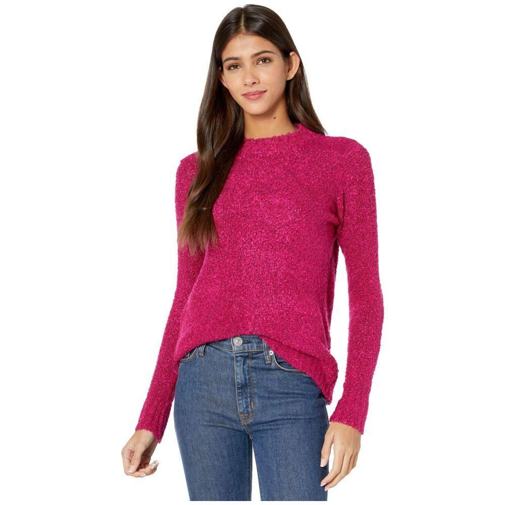 ケンジー kensie レディース ニット・セーター トップス【Fuzzy Boucle Sweater KSDK5953】Raspberry
