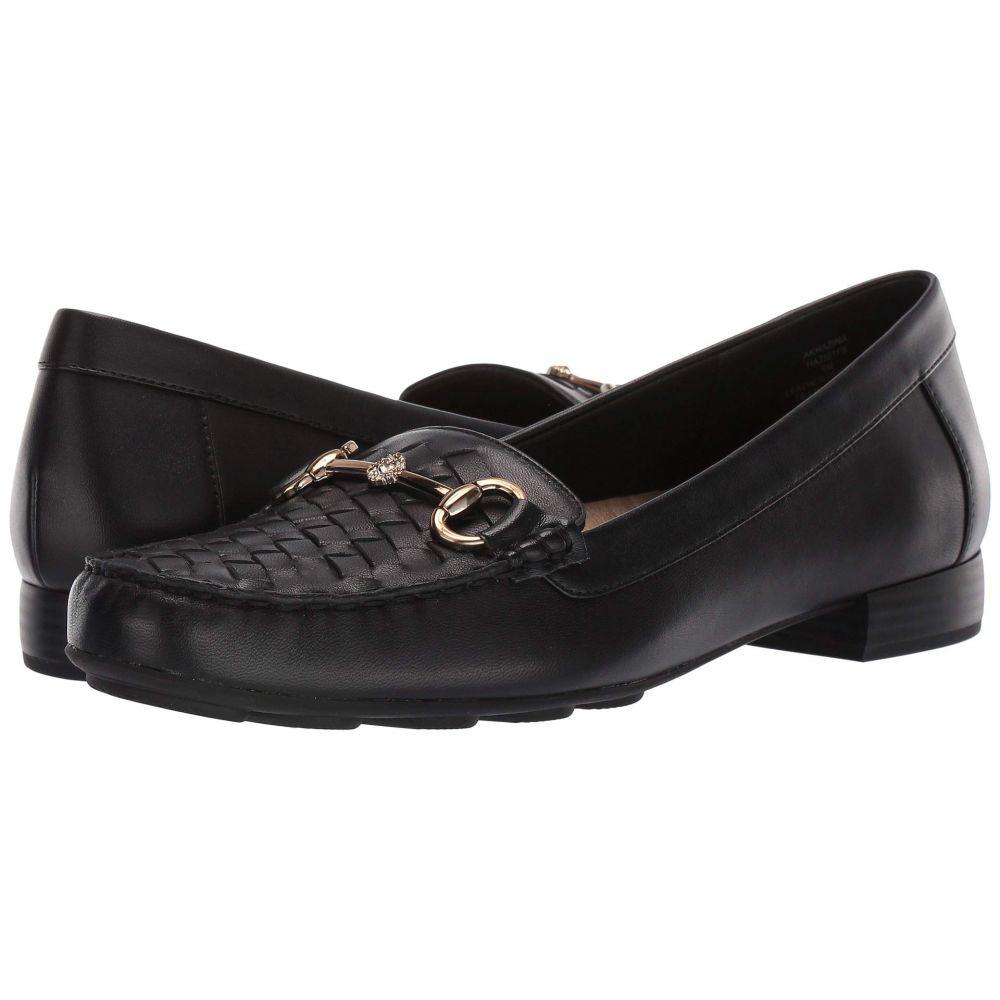 アン クライン Anne Klein レディース ローファー・オックスフォード シューズ・靴【Hazina】Black Leather