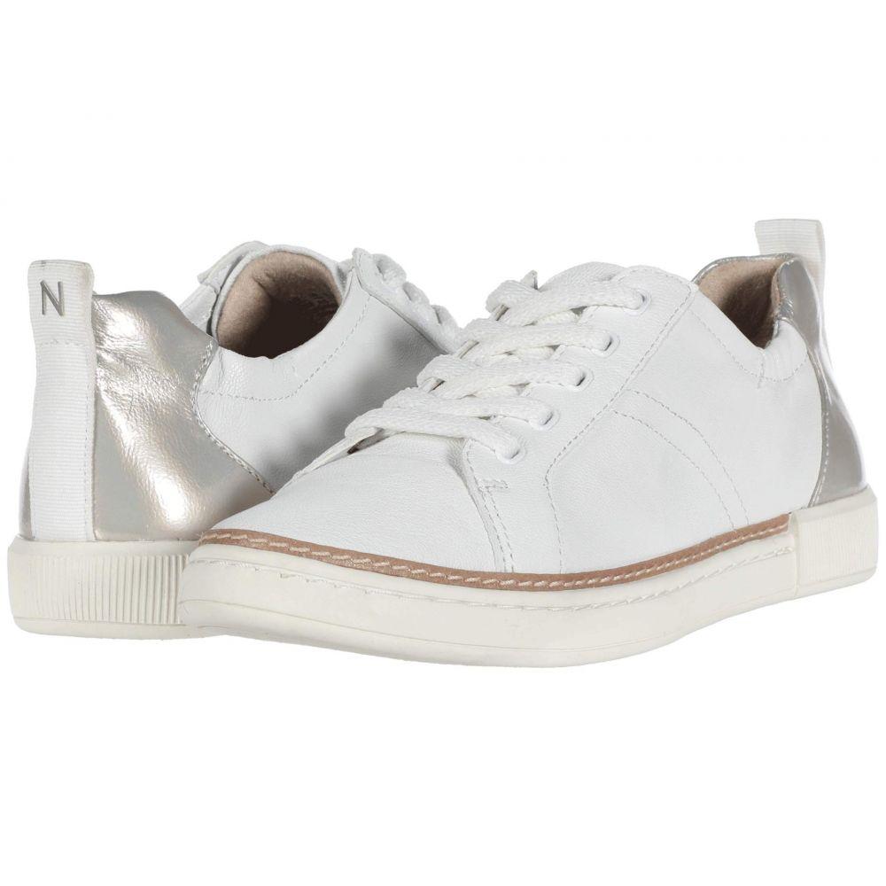ナチュラライザー Naturalizer レディース スニーカー シューズ・靴【Zoey】Metallic White Synthetic Tumbled Leather
