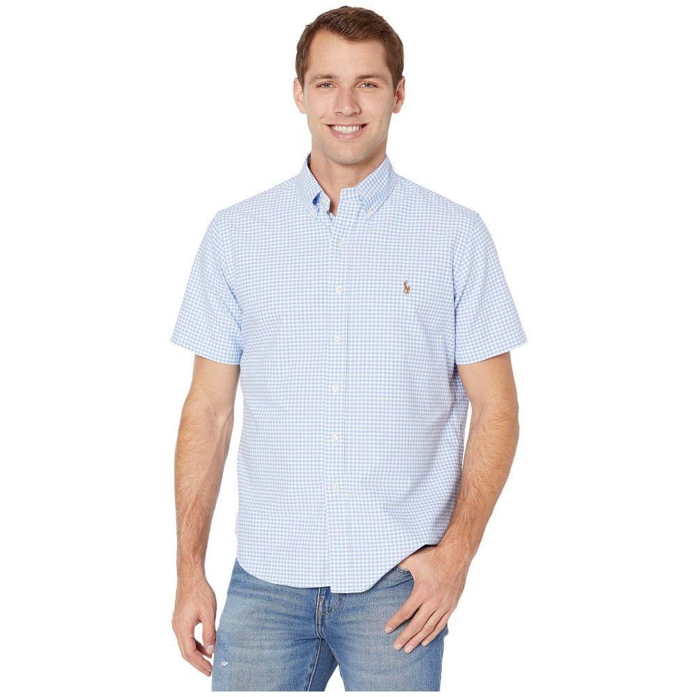 ラルフ ローレン Polo Ralph Lauren メンズ 半袖シャツ トップス【Classic Fit Short Sleeve Oxford Shirt】Light Blue/White