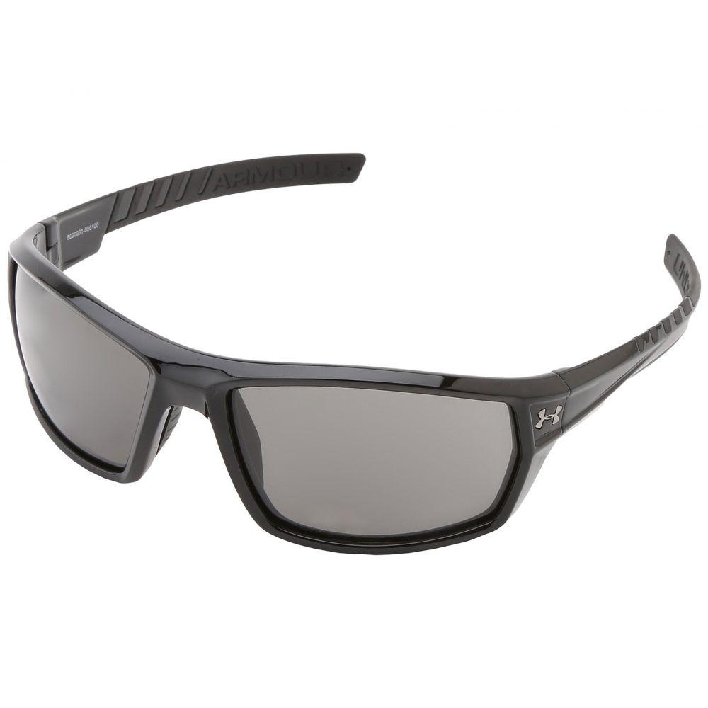 アンダーアーマー Under Armour ユニセックス メガネ・サングラス 【UA Ranger】Shiny Black Frame w/Black Rubber/Gray Lens