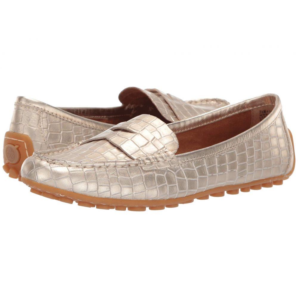 ボーン Born レディース ローファー・オックスフォード シューズ・靴【Malena】Gold Croc Metallic