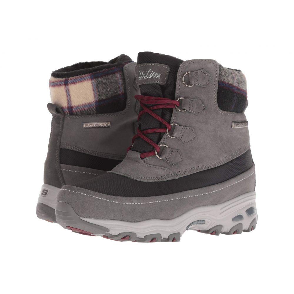 スケッチャーズ SKECHERS レディース ブーツ シューズ・靴【D'Lites】Charcoal