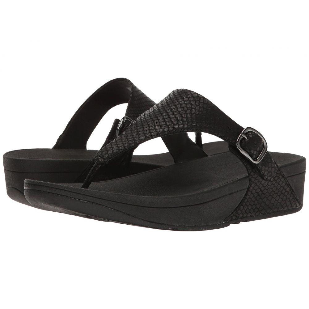 フィットフロップ FitFlop レディース ビーチサンダル シューズ・靴【The Skinny】Black Snake