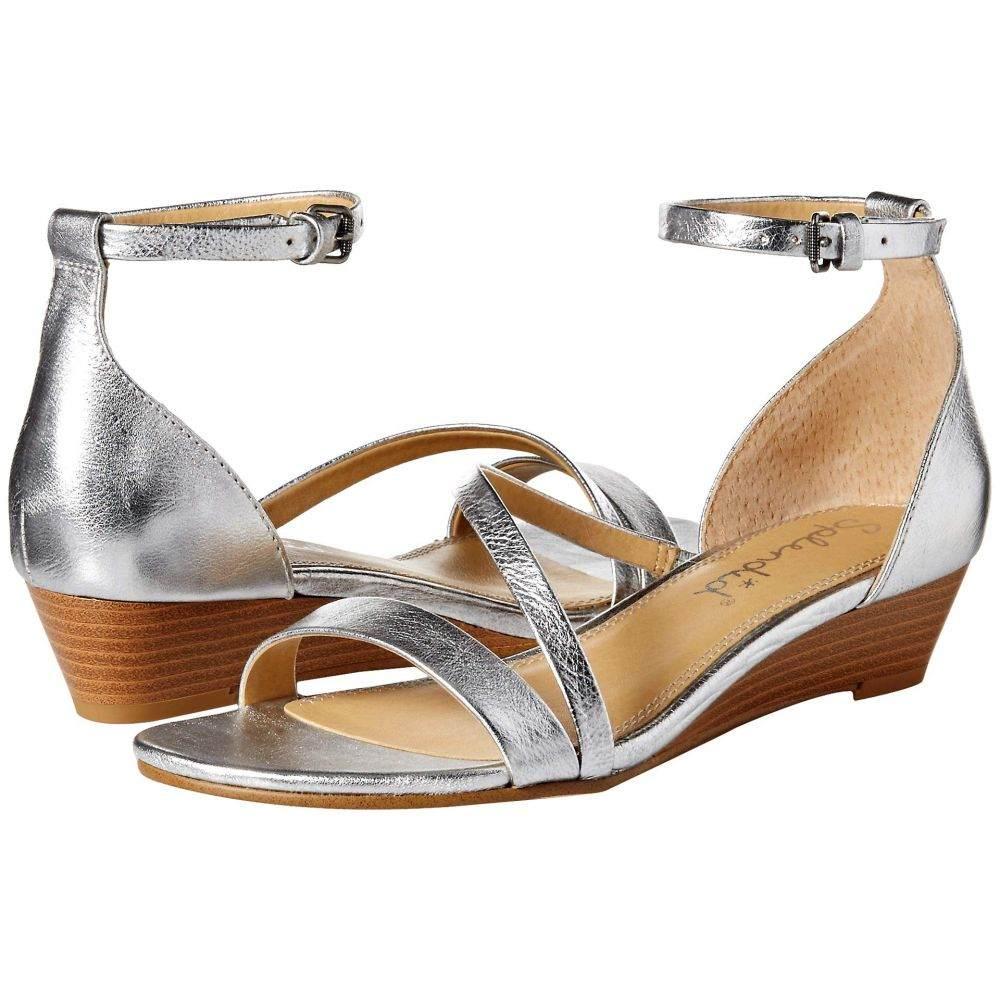 スプレンディッド Splendid レディース サンダル・ミュール シューズ・靴【Stefano】Silver Metallic Tumbled Leather