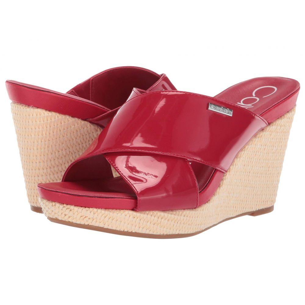 カルバンクライン Calvin Klein レディース サンダル・ミュール シューズ・靴【Jacolyn】Scarlet Patent