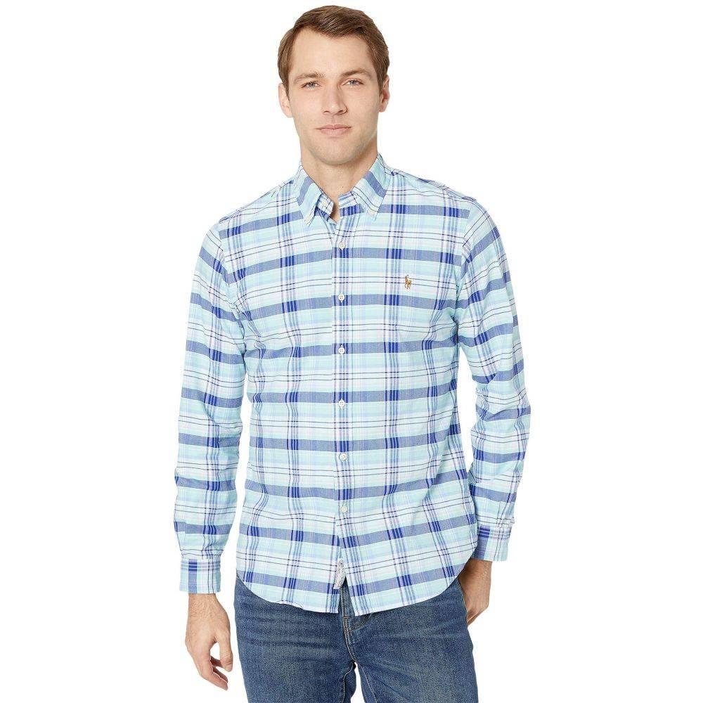 ラルフ ローレン Polo Ralph Lauren メンズ シャツ トップス【Classic Fit Long Sleeve Oxford Shirt】Spring Green/Blue Multi