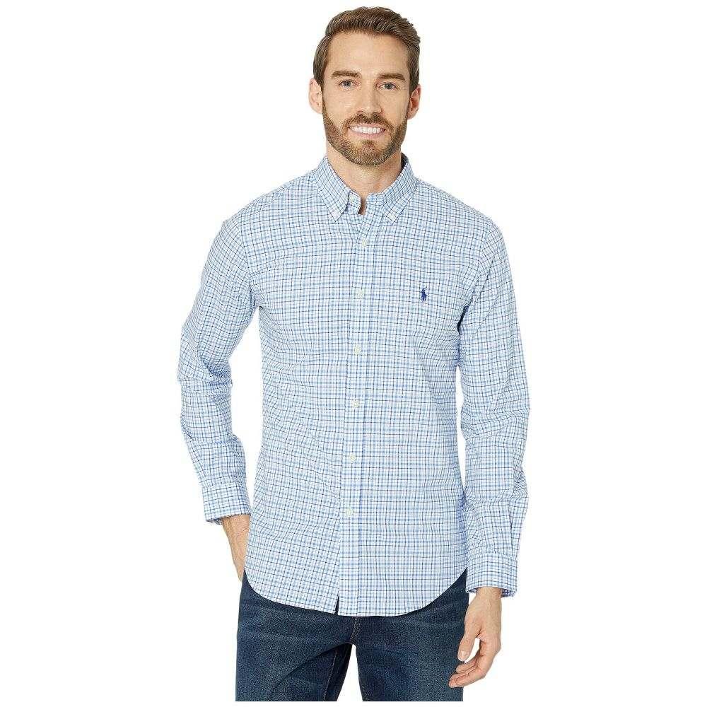 ラルフ ローレン Polo Ralph Lauren メンズ シャツ トップス【Slim Fit Long Sleeve Plaid Poplin Shirt】Blue/White