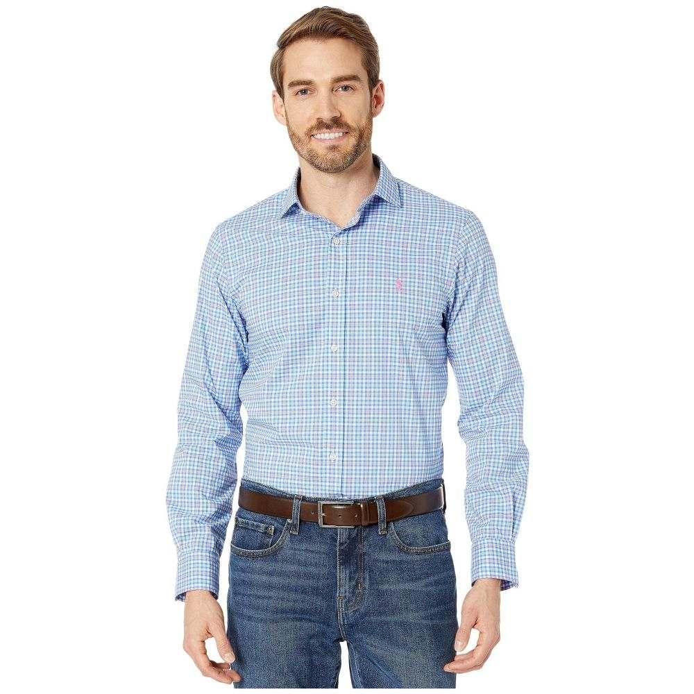 ラルフ ローレン Polo Ralph Lauren メンズ シャツ トップス【Slim Fit Long Sleeve Poplin Shirt】Aerial Blue/Pink Multi
