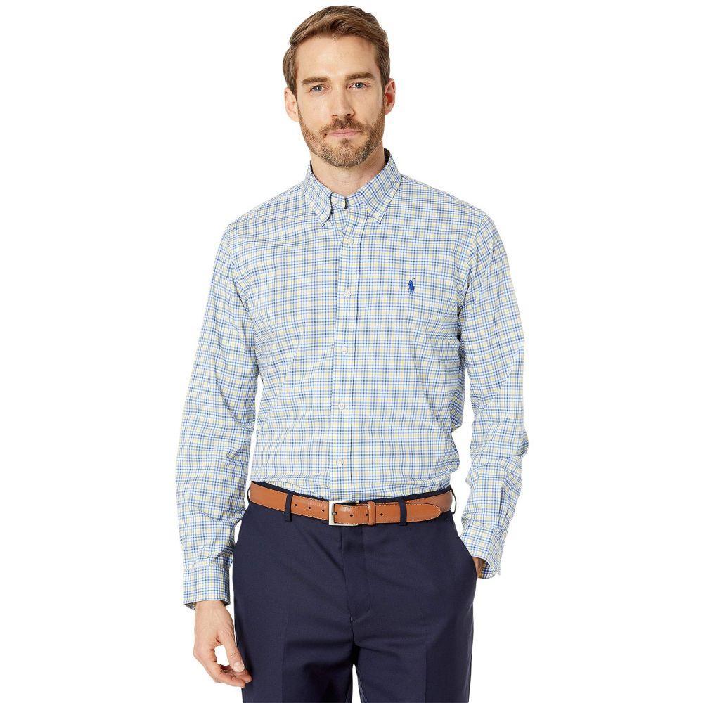 ラルフ ローレン Polo Ralph Lauren メンズ シャツ トップス【Classic Fit Plaid Poplin Shirt】Blue/Yellow Multi