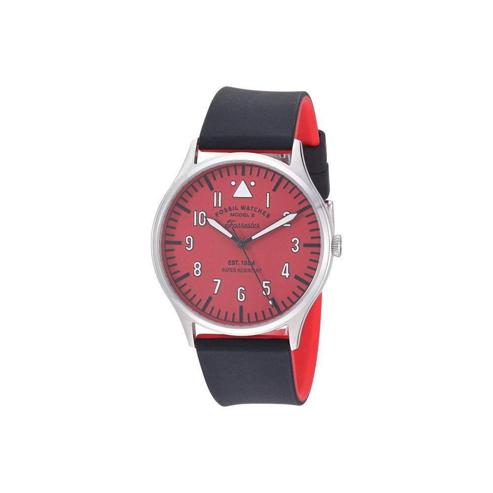 フォッシル Fossil メンズ 腕時計 【42 mm Forrester - FS5616】Silver/Red/Black