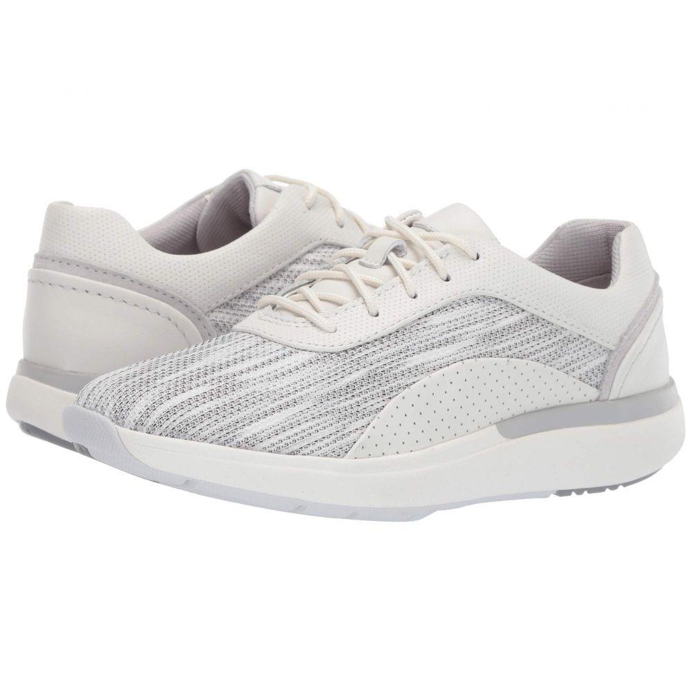 クラークス Clarks レディース スニーカー シューズ・靴【Un Cruise Lace】White Textile/Nubuck Combi