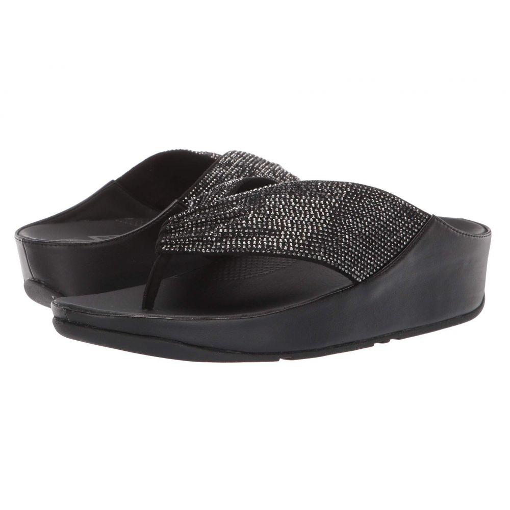 フィットフロップ FitFlop レディース ビーチサンダル シューズ・靴【Twiss Crystal】Black