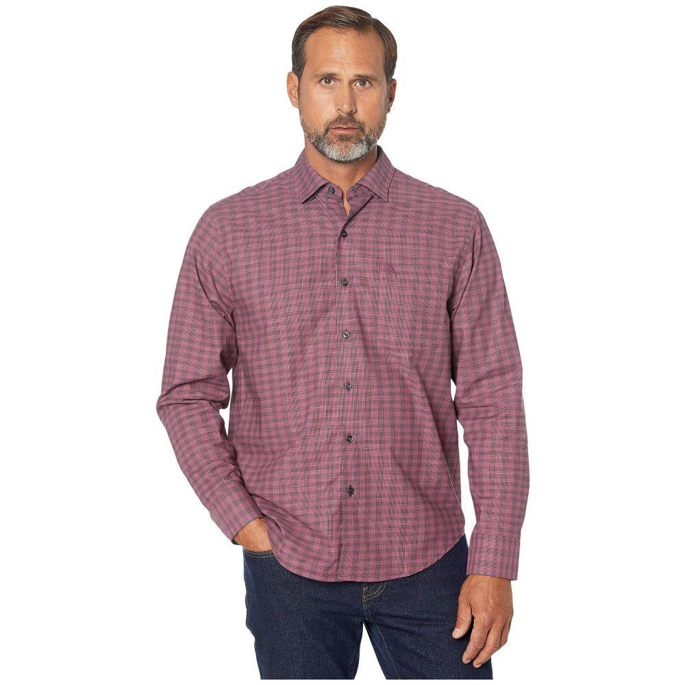 トミー バハマ Tommy Bahama メンズ シャツ トップス【Newport Cimarron Check IslandZone Shirt】Rum Berry