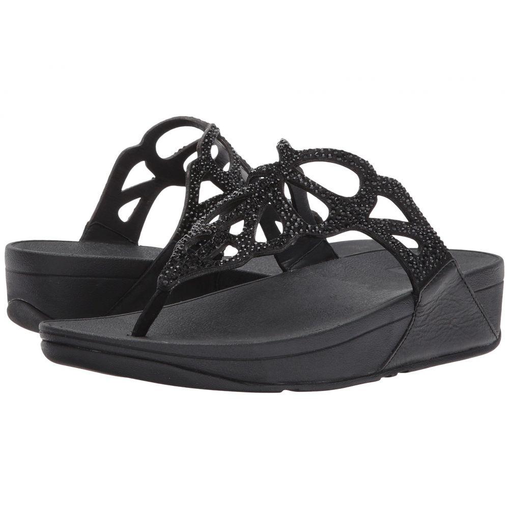 フィットフロップ FitFlop レディース ビーチサンダル シューズ・靴【Bumble Crystal Toe Post】Black