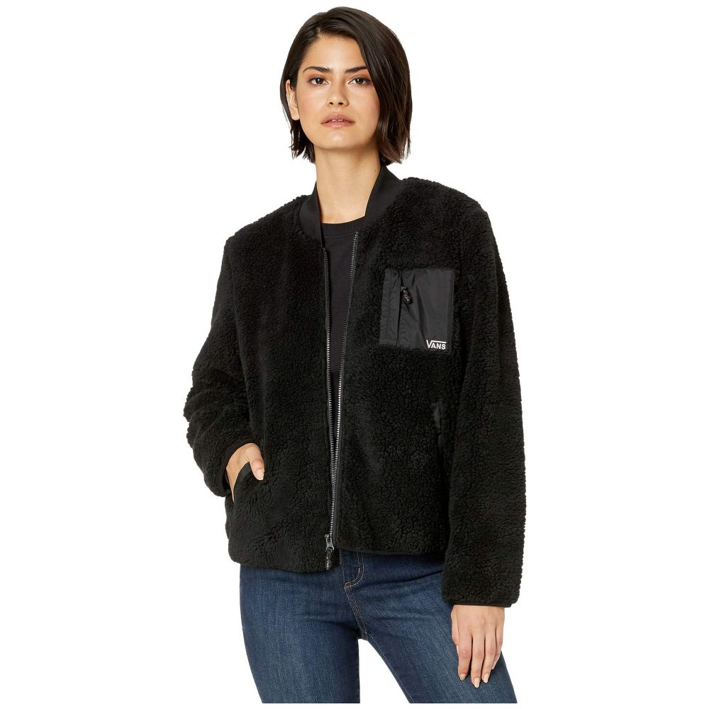 ヴァンズ Vans レディース ジャケット アウター【Misty Fog Sherpa Jacket】Black