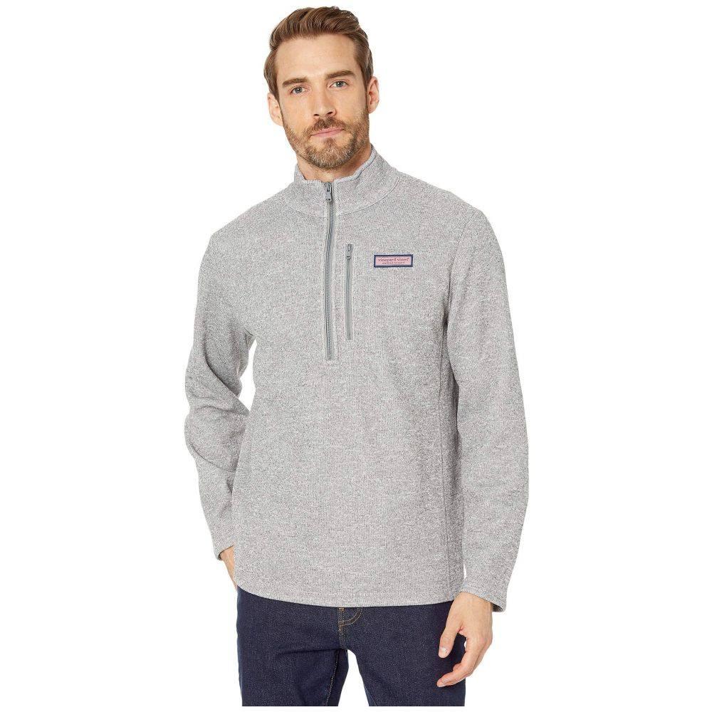 ヴィニヤードヴァインズ Vineyard Vines メンズ フリース ハーフジップ トップス【Mountain Sweater Fleece 1/2 Zip Pullover】Gray Heather