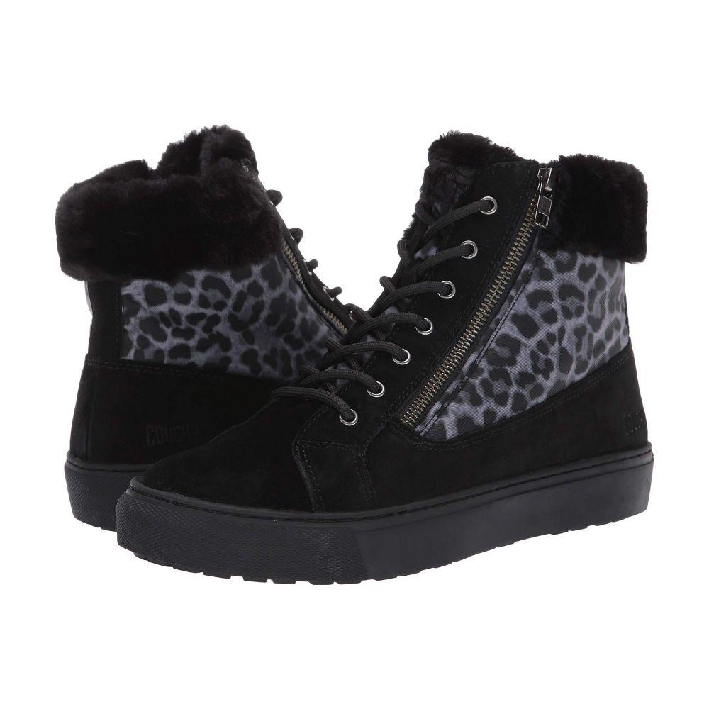 クーガー Cougar レディース スニーカー シューズ・靴【Dublin Waterproof】Black/Leopard Suede/Nylon