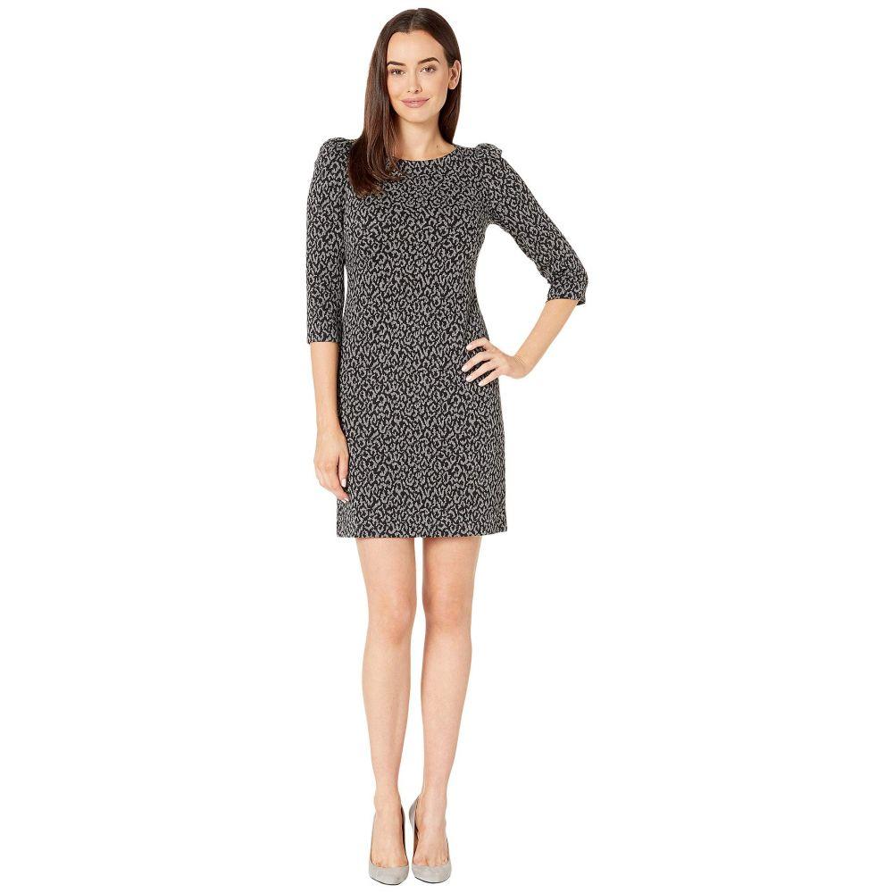 カルバンクライン Calvin Klein レディース ワンピース ワンピース・ドレス【Animal Print Ponte Dress】Black/Charcoal