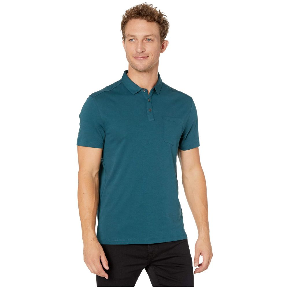 ジョン バルベイトス John Varvatos Star U.S.A. メンズ ポロシャツ 半袖 トップス【Burlington Short Sleeve Classic Fit Cotton Interlock Polo K4525V3B】Peacock Blue