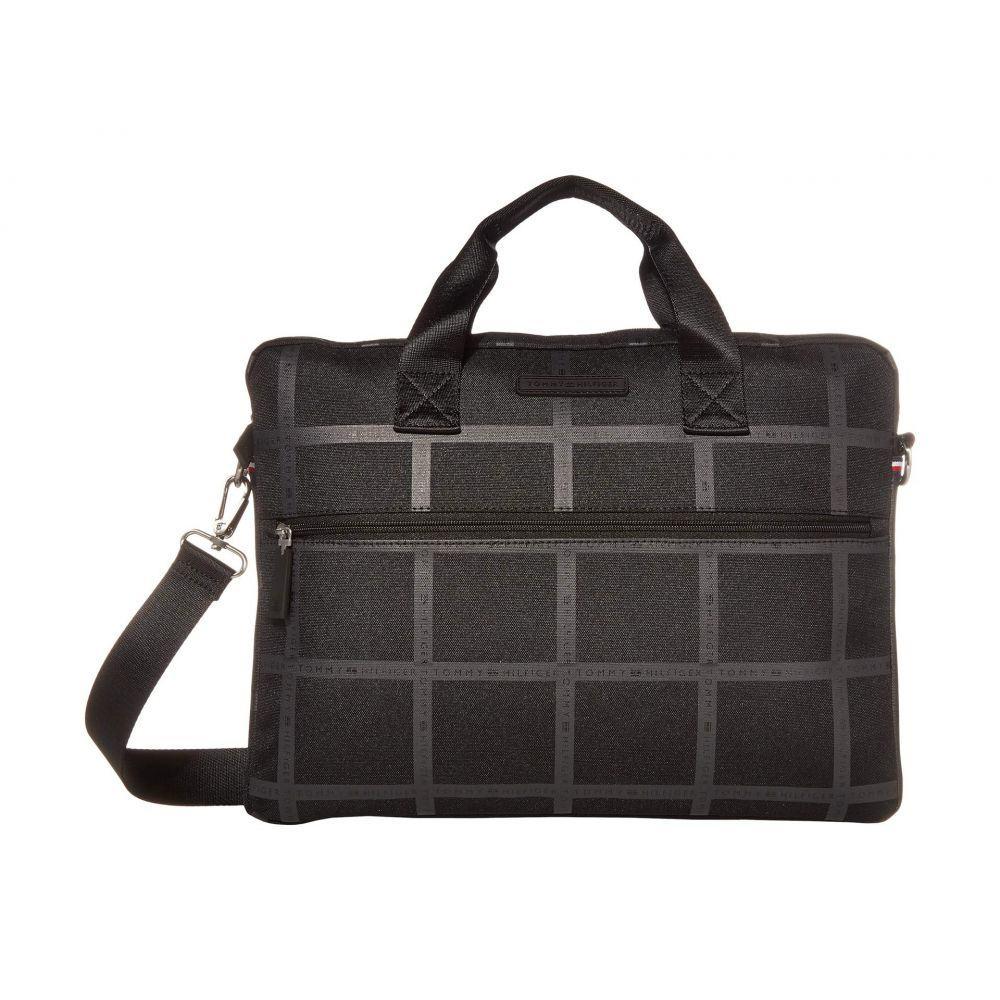 トミー ヒルフィガー Tommy Hilfiger メンズ ビジネスバッグ・ブリーフケース バッグ【Alexander - Slim Briefcase - Logo Print】Black Tonal