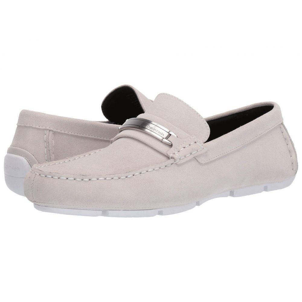 カルバンクライン Calvin Klein メンズ ローファー シューズ・靴【Kolton】White Hatched Embossed Calf Suede