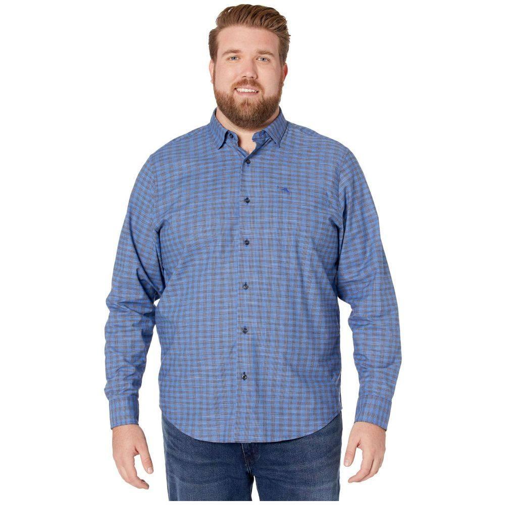 トミー バハマ Tommy Bahama Big & Tall メンズ シャツ トップス【Newport Cimarron Check IslandZone Shirt】Mazarine Blue