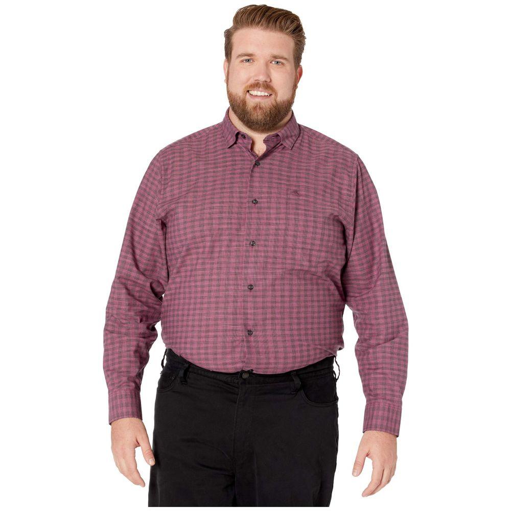トミー バハマ Tommy Bahama Big & Tall メンズ シャツ トップス【Newport Cimarron Check IslandZone Shirt】Rum Berry
