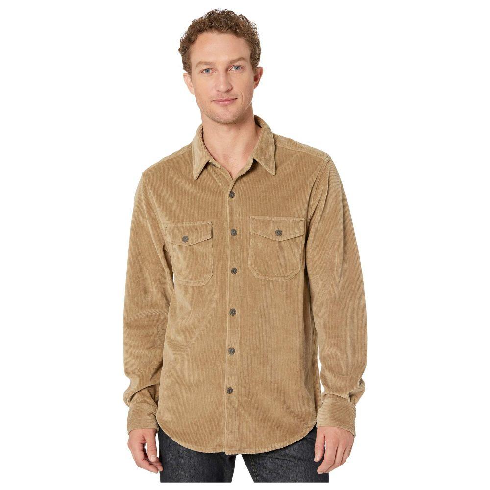 トゥルーグリット True Grit メンズ シャツ トップス【Best Stretch Cord Long Sleeve Two-Pocket Shirt】Khaki