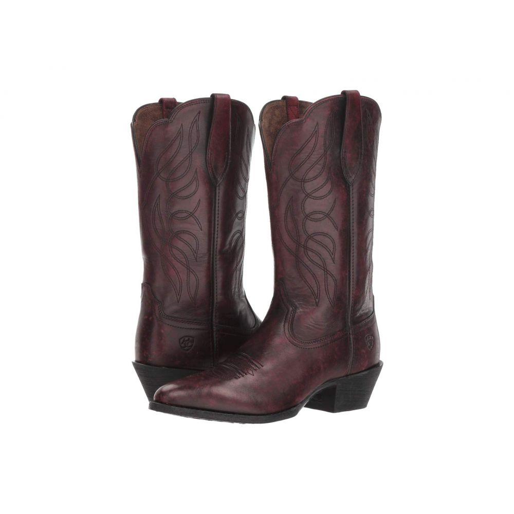アリアト Ariat レディース ブーツ シューズ・靴【Heritage Western R Toe】Ombre Red