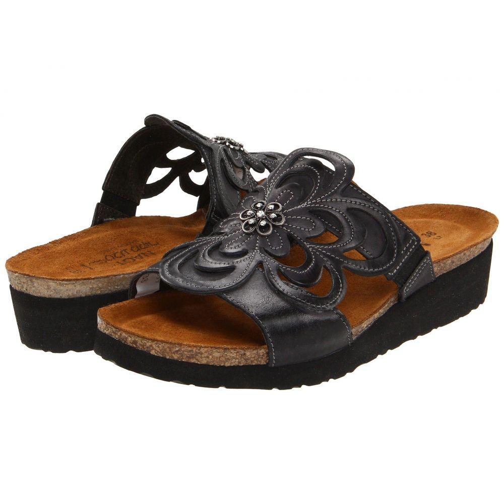 ナオト Naot レディース サンダル・ミュール シューズ・靴【Sandy】Brushed Black Leather