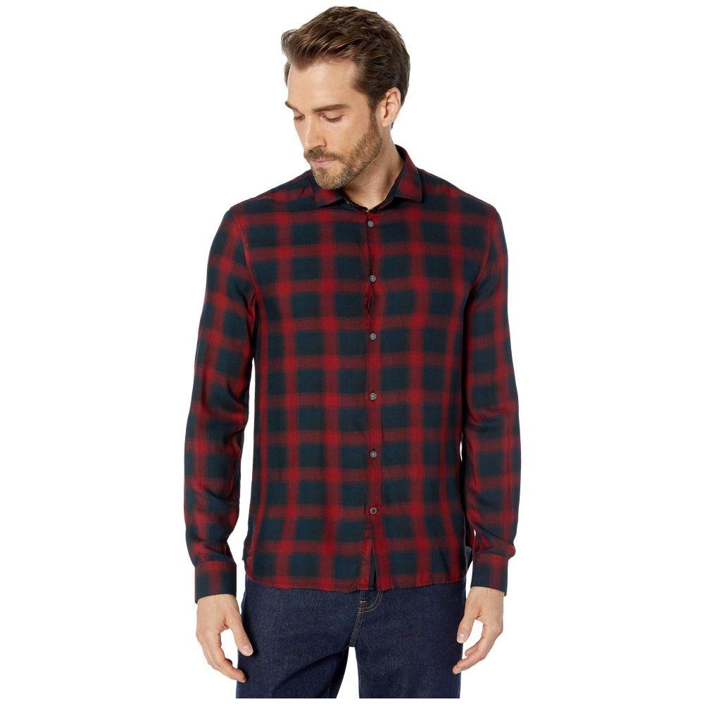 ジョン バルベイトス John Varvatos Star U.S.A. メンズ シャツ トップス【Dedrick Long Sleeve Clean Front Sport Shirt, Bluff Edge W613V3B】Cherry